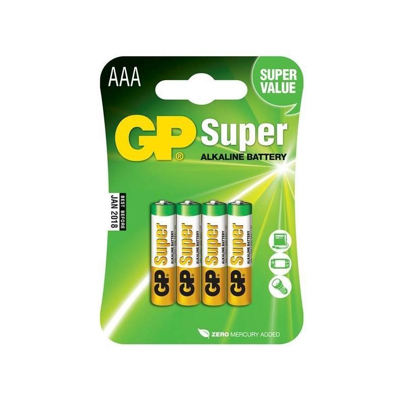 Batterijen AAA GP super 4 stuks