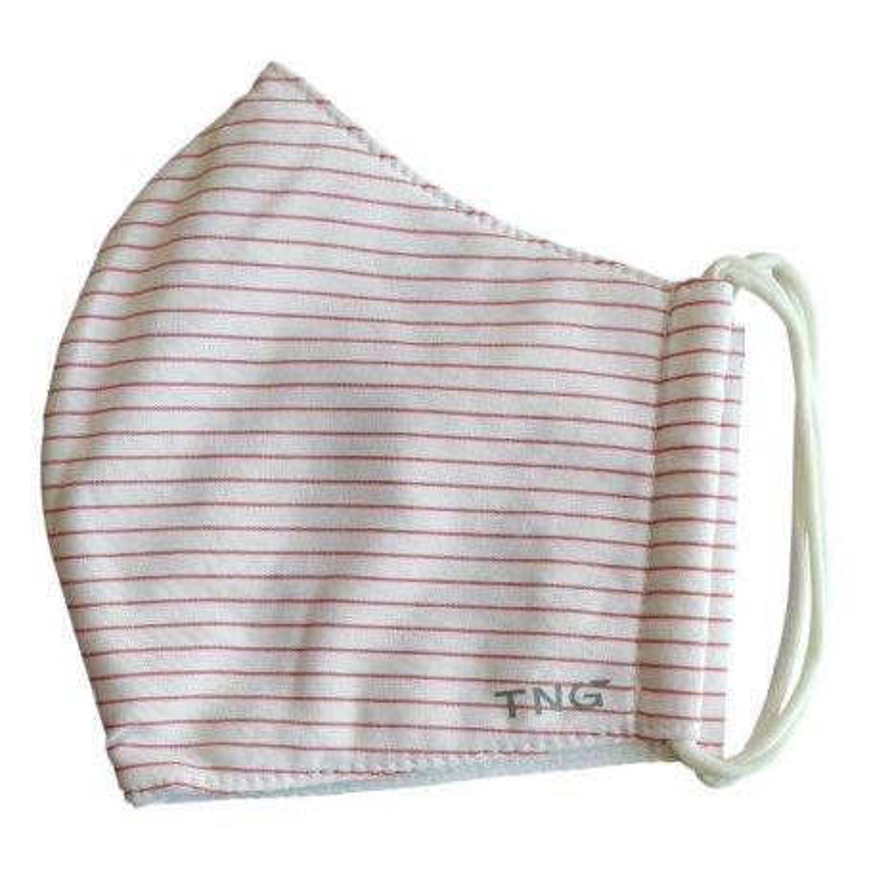 Gezichtsmasker Medium NANO FFP2 afwasbaar wit rood gestreept