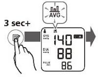 Gemiddelde meting tonen op het display Omron M3 Comfort