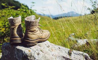 Wandeltio zorg voor stevige schoenen