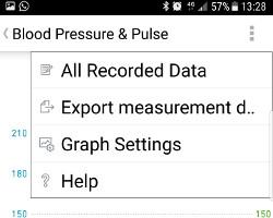 Exporteer meetgegevens uit Omron Connect app